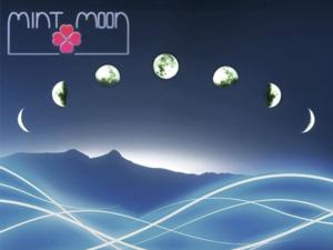 Mint Moon fan wallpaper