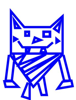 My blue cat 디자인