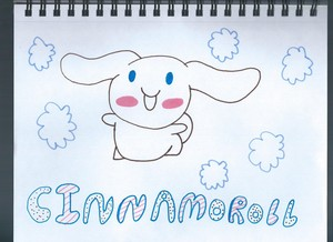 My drawing of Cinnamoroll from 산리오