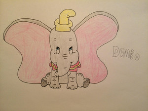 My drawing of Dumbo
