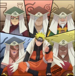 নারুত with the 5 kages