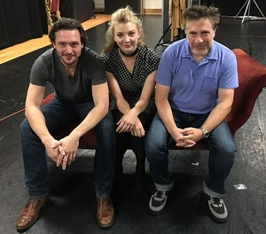 "Natalie Dormer, David Oakes and Patrick Marber at ""Venus in Fur"" Press Junket"