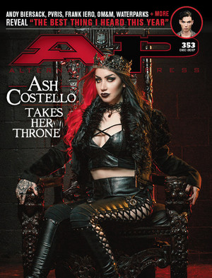 New Years Day's Ash Costello in Ap Magazine Cover Shoot