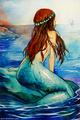 Ocean Blue Mermaid - mermaids fan art