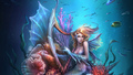 Ocean Harp Mermaid - mermaids fan art