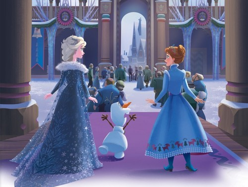 Frozen wallpaper called Olafs Frozen Adventure - Storybook Illustration