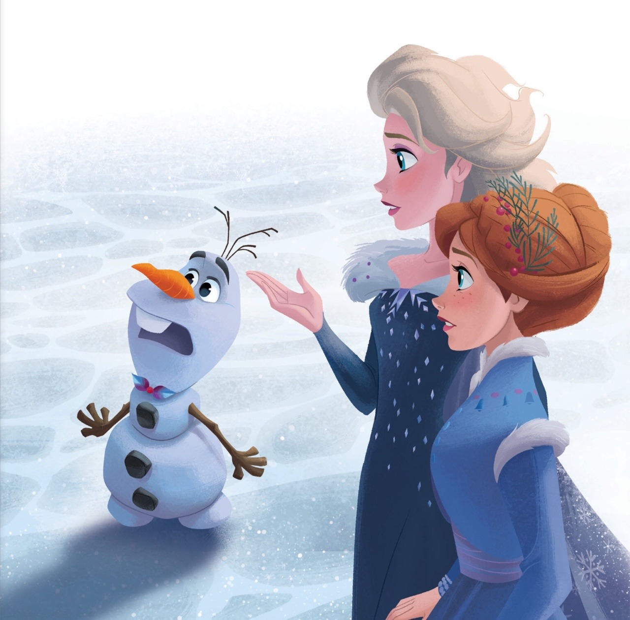 Olafs Frozen - Uma Aventura Congelante Adventure - Storybook Illustration