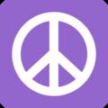 Peace Symbol (Purple) - the-60s photo