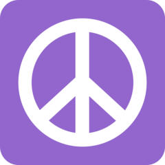 Peace Symbol (Purple)