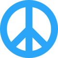 Peace Symbol (White) - the-60s photo