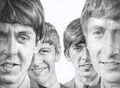 Pencil Sketch Of The Beatles (by raulrk) - the-beatles fan art
