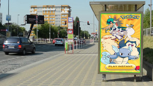 Pokemon Mega in Billbord