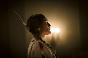 Q'orianka Kilcher as Te Ata Fisher in Te Ata (2016)