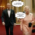 Queen Elizabeth II & James Bond - queen-elizabeth-ii fan art