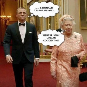 Queen Elizabeth II & James Bond