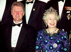 queen Elizabeth II & President Bill Clinton