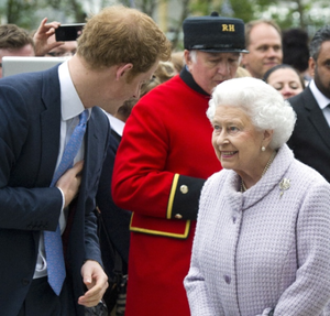 Queen Elizabeth II & Prince Harry