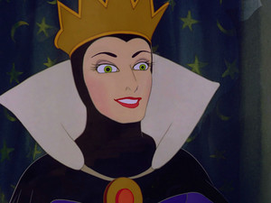 queen Grimhilde/The Evil queen with a friendly smile