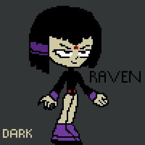 Raven retro-style