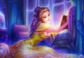 Reading Nights - Belle - disney-princess fan art