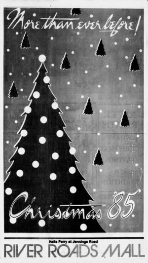 River Roads Mall Christmas '85 ad