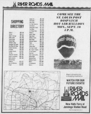 River Roads Mall ad (1979)