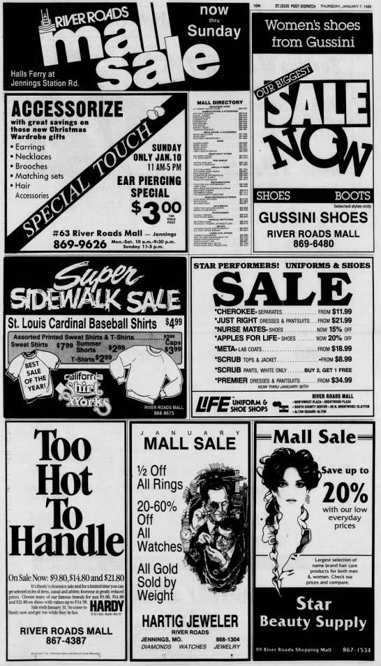 River Roads Mall sale ad (1988)