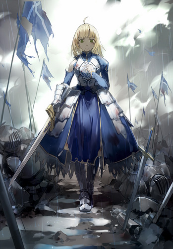 Fate Series kertas dinding called Saber