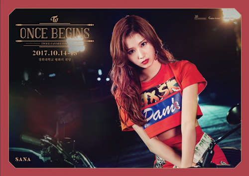Twice (JYP Ent) پیپر وال entitled Sana for 'Once Begins'
