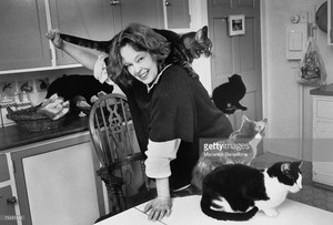 Sandy Dennis And Her Cats