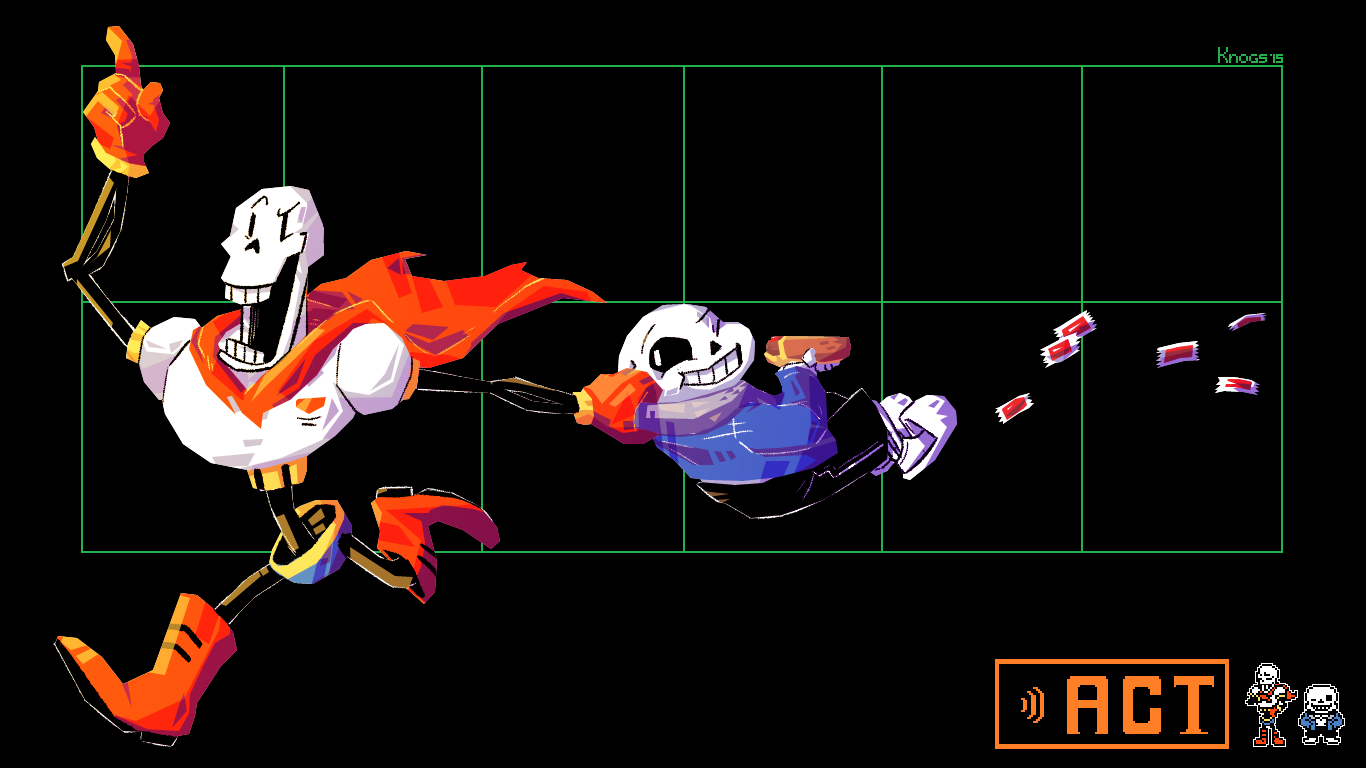 Sans and Papyrus wallpaper