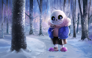 Sans the Skeleton Wallpaper