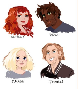 Scarlet, Wolf, Cress and Thorne