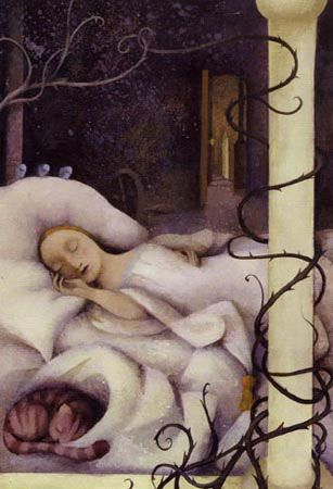 Grimm's Fairy Tales wallpaper titled Sleeping Beauty