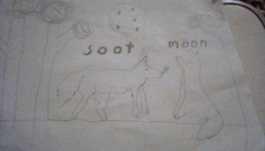 Soot + moon 💙(i drew this myself)