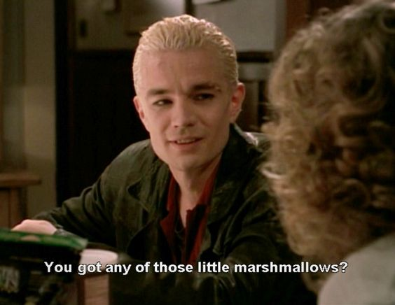 Spike and the mini marshmallows
