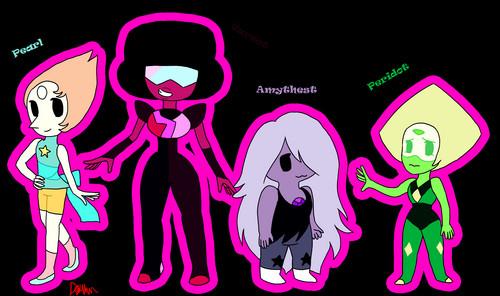 Steven Universe Hintergrund entitled Steven universe characters fanart