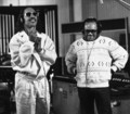 Stevie And Quincy Jones In The Recording Studio - stevie-wonder photo