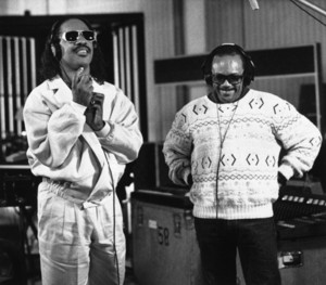 Stevie And Quincy Jones In The Recording Studio