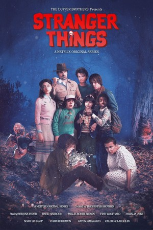 "Stranger Things Season 2 ""The Goonies"" Movie Inspired Poster"