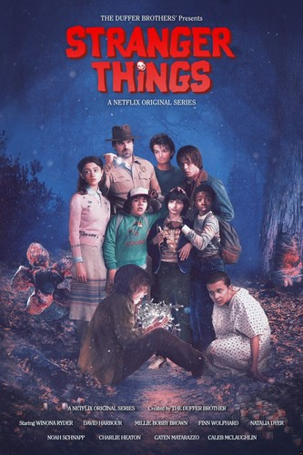 "Stranger Things fond d'écran entitled Stranger Things Season 2 ""The Goonies"" Movie Inspired Poster"