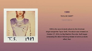 TAYLOR cepat, swift 1989 PHOBIA