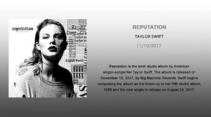 TAYLOR rápido, swift REPUTATION MEDUSA