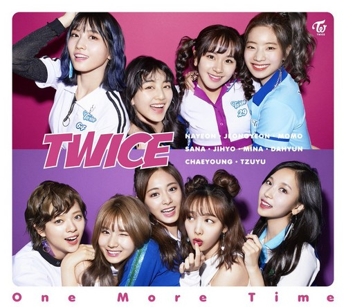 Twice (JYP Ent) wolpeyper titled TWICE 'One madami Time'