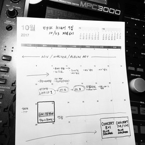 Tablo unveils a handwritten schedule for Epik High's comeback