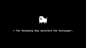 The Annoying Dog adsorbed the Wallpaper