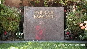 The Gravesite Of Farrah Fawcett