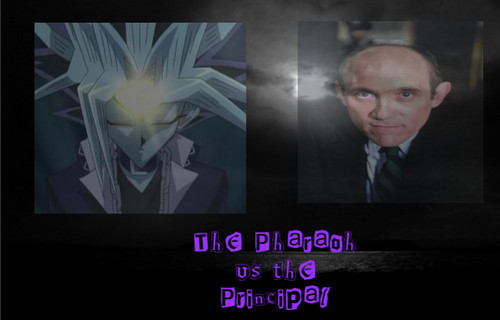 Crossover Fanfiction wallpaper entitled The Pharaoh Vs the Principal