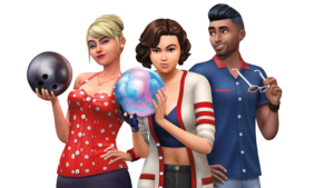 The Sims 4: Bowling Night Stuff Render