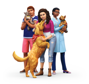 The Sims 4: 猫 and 狗 Render
